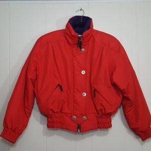 Vintage Obermeyer womens ski jacket red size 10